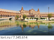 Купить «Plaza de Espana (Place d' Espagne), built between 1914 and 1928 by the architect Anibal Gonzalez, Sevilla, Andalucia, Spain», фото № 7345614, снято 27 марта 2019 г. (c) BE&W Photo / Фотобанк Лори