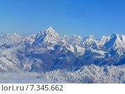 Купить «Nepal, Everest Himalaya, Wonderful aerial views in Nepal fly over to mountain Everest Himalaya», фото № 7345662, снято 20 июля 2019 г. (c) BE&W Photo / Фотобанк Лори