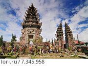 Купить «Pura Ulun Danu Batur (also known as Pura Ulun Danu, Pura Batur is the second most important temple in Bali, Indonesia», фото № 7345958, снято 17 декабря 2018 г. (c) BE&W Photo / Фотобанк Лори