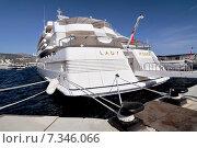 Купить «Monaco Yacht Show in Port Hercule, Principality of Monaco, Cote d'Azur», фото № 7346066, снято 18 июня 2019 г. (c) BE&W Photo / Фотобанк Лори