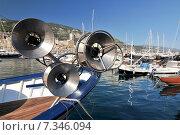 Купить «Fishing Boat in marina at Monaco Cote D Azur France», фото № 7346094, снято 18 июня 2019 г. (c) BE&W Photo / Фотобанк Лори