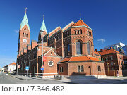 Купить «Slovenia, Maribor, The Basilica of Our Mother of Mercy is a Franciscan church in Maribor, Slovenia.», фото № 7346482, снято 21 апреля 2019 г. (c) BE&W Photo / Фотобанк Лори
