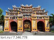 Купить «Vietnam, Hue, Ancient temple gates, Imperial City, The Purple Forbidden City - Hue, Vietnam», фото № 7346778, снято 17 июля 2018 г. (c) BE&W Photo / Фотобанк Лори