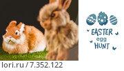 Купить «Composite image of easter egg hunt graphic», фото № 7352122, снято 24 марта 2019 г. (c) Wavebreak Media / Фотобанк Лори