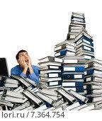 Купить «Офисный работник, стрессовая нагрузка», фото № 7364754, снято 27 сентября 2009 г. (c) Владимир Мельников / Фотобанк Лори