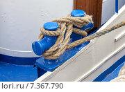 Купить «Швартовочный кнехт на корабле», фото № 7367790, снято 22 июля 2019 г. (c) FotograFF / Фотобанк Лори