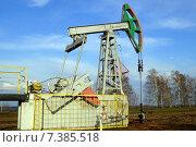 Станок-качалка для добычи нефти. Стоковое фото, фотограф Юлия Лифарева / Фотобанк Лори