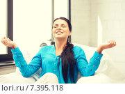 Купить «woman in meditation», фото № 7395118, снято 18 июня 2011 г. (c) Syda Productions / Фотобанк Лори