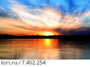 Закат. Стоковое фото, фотограф Алена Перфилова / Фотобанк Лори