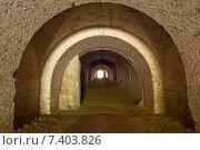 Подземный туннель старого Таракановского Форта вблизи города Дубно. Стоковое фото, фотограф Николай Полищук / Фотобанк Лори
