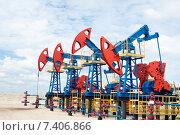 Купить «Нефтяные насосы», фото № 7406866, снято 12 июня 2010 г. (c) Георгий Shpade / Фотобанк Лори