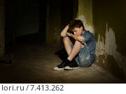 Lonely little boy. Стоковое фото, фотограф Ruslan Huzau / Фотобанк Лори