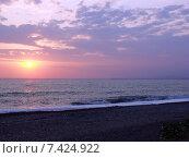 Купить «Красивый морской закат», фото № 7424922, снято 9 августа 2006 г. (c) Евгений Ткачёв / Фотобанк Лори