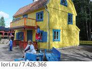 Купить «Vimmerby, Sweden, Pippi's Villa Villekulla in Astrid Lindgren's World», фото № 7426366, снято 20 августа 2009 г. (c) Caro Photoagency / Фотобанк Лори
