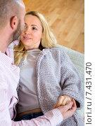 Купить «Portrait couple in home», фото № 7431470, снято 12 ноября 2019 г. (c) Яков Филимонов / Фотобанк Лори