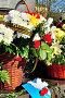 Цветы у мемориальной стелы «Город воинской славы» в Великом Новгороде, Россия, фото № 7443798, снято 10 мая 2015 г. (c) Зезелина Марина / Фотобанк Лори
