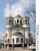 Купить «Вознесенский собор в Звенигороде», фото № 7445602, снято 2 мая 2015 г. (c) Ирина Носова / Фотобанк Лори