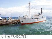 Купить «Корабль стоит у причала», фото № 7450782, снято 17 мая 2015 г. (c) Момотюк Сергей / Фотобанк Лори