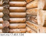 Стены сруба. Стоковое фото, фотограф Александр Носков / Фотобанк Лори