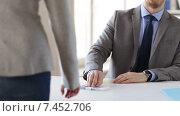 Купить «close up of businessman refusing from money bribe», видеоролик № 7452706, снято 12 апреля 2015 г. (c) Syda Productions / Фотобанк Лори