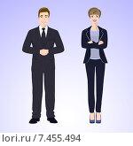 Бизнесмен и бизнес-леди в деловой одежде. Стоковая иллюстрация, иллюстратор Портнова Екатерина / Фотобанк Лори
