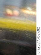Дождь в городе, абстрактный нерезкий фон. Стоковое фото, фотограф Ирина Семчук / Фотобанк Лори