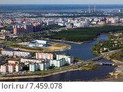 Купить «Вид на Сургут сверху», фото № 7459078, снято 18 мая 2015 г. (c) Владимир Мельников / Фотобанк Лори