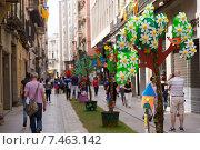 Купить «Festival of floral decorations in Girona», фото № 7463142, снято 14 мая 2015 г. (c) Яков Филимонов / Фотобанк Лори