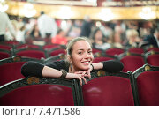 Купить «Portrait of woman in auditorium of theatre», фото № 7471586, снято 27 июня 2019 г. (c) Яков Филимонов / Фотобанк Лори