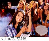 Band playing musical instrument. Стоковое фото, фотограф Gennadiy Poznyakov / Фотобанк Лори
