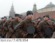 Купить «Парад 7 ноября на Красной площади. Москва», фото № 7478954, снято 7 ноября 2014 г. (c) Free Wind / Фотобанк Лори