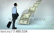 Купить «Businessman looking at money path», видеоролик № 7480534, снято 24 сентября 2018 г. (c) Wavebreak Media / Фотобанк Лори
