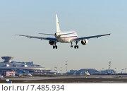 """Купить «Airbus A319 (бортовой VQ-BAT) авиакомпании """"Россия"""" на посадке во Внукове», эксклюзивное фото № 7485934, снято 14 марта 2015 г. (c) Alexei Tavix / Фотобанк Лори"""