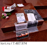Купить «Акция в память о событиях в Одессе 2 мая 2014 года и убийстве Олеся Бузины (на памятнике В. И. Ленину в Ялте)», фото № 7487974, снято 3 мая 2015 г. (c) Маргарита Лир / Фотобанк Лори
