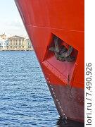 Купить «Форштевень судна. Нева», эксклюзивное фото № 7490926, снято 28 мая 2015 г. (c) Александр Алексеев / Фотобанк Лори
