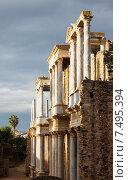 Купить «Antique Roman Theatre in sunny morning at Merida», фото № 7495394, снято 19 ноября 2014 г. (c) Яков Филимонов / Фотобанк Лори