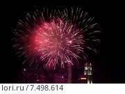 Купить «beautiful fireworks at night city sky», фото № 7498614, снято 18 февраля 2015 г. (c) Syda Productions / Фотобанк Лори