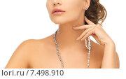 Купить «woman with pearl earrings and necklace», фото № 7498910, снято 17 марта 2013 г. (c) Syda Productions / Фотобанк Лори