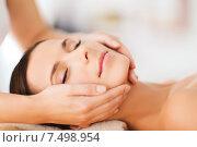 Купить «beautiful woman in spa salon having facial», фото № 7498954, снято 25 июля 2013 г. (c) Syda Productions / Фотобанк Лори