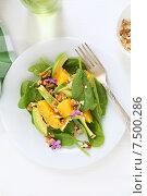 Купить «Полезный салат с авокадо и апельсином», фото № 7500286, снято 13 мая 2015 г. (c) Афанасьева Ольга / Фотобанк Лори