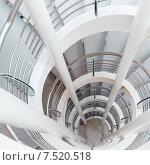 Купить «Белая винтовая лестница», фото № 7520518, снято 10 декабря 2019 г. (c) Mikhail Starodubov / Фотобанк Лори