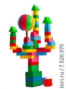 Сказочный замок из разноцветного конструктора. Стоковое фото, фотограф Николай Полищук / Фотобанк Лори