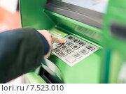 Купить «Набор кода на клавиатуре банкомата», фото № 7523010, снято 19 мая 2015 г. (c) Константин Колосов / Фотобанк Лори