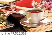 Купить «Кофейная композиция», фото № 7525358, снято 25 октября 2014 г. (c) Виктор Топорков / Фотобанк Лори