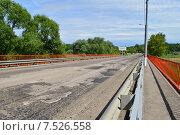 Купить «Автомобильный мост через реку Клязьму (Шапкин мост). Королев, Московской области», эксклюзивное фото № 7526558, снято 2 июня 2015 г. (c) lana1501 / Фотобанк Лори