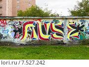 Абстрактные граффити на стене, фото № 7527242, снято 31 августа 2014 г. (c) Евгений Ткачёв / Фотобанк Лори