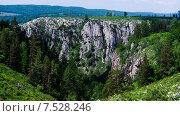 Купить «Природный парк Мурадымовское ущелье, Башкирия», фото № 7528246, снято 22 февраля 2018 г. (c) шаповалов андрей / Фотобанк Лори