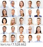 Купить «collage with many business people portraits», фото № 7528662, снято 19 августа 2019 г. (c) Syda Productions / Фотобанк Лори