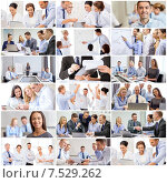 Купить «collage with many business people in office», фото № 7529262, снято 17 сентября 2019 г. (c) Syda Productions / Фотобанк Лори