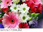 Букет цветов с Герберами крупным планом. Стоковое фото, фотограф Володина Ольга / Фотобанк Лори